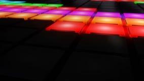 Lazo ligero del vj del fondo de la rejilla del disco que brilla intensamente del club nocturno de la pared colorida de la sala de libre illustration