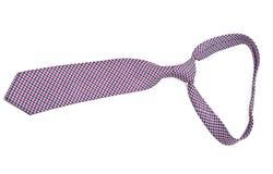 Lazo masculino de seda elegante (corbata) en blanco Imagen de archivo