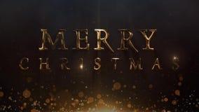 Lazo metálico de oro del Año Nuevo 4K de la Navidad libre illustration