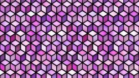 Lazo multicolor del movimiento de la pendiente de la forma del cubo metrajes