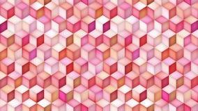 Lazo multicolor del movimiento de la pendiente de la forma del cubo almacen de metraje de vídeo
