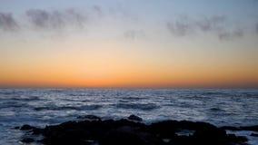 Lazo pacífico de la puesta del sol de la arboleda almacen de metraje de vídeo