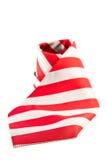 Lazo rojo en el fondo blanco Fotos de archivo libres de regalías
