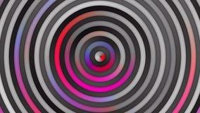 Lazo rojo púrpura rosado multicolor animado de las rayas y de los círculos de la pendiente almacen de video
