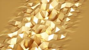 Lazo superficial geom?trico poligonal abstracto almacen de metraje de vídeo