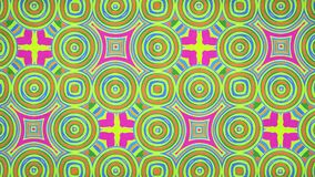 Lazo video del fondo 12 de //4k 60fps del Weirdness del papel pintado del modelo Paperlike del papel pintado floral libre illustration