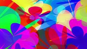 Lazo video del fondo de los flores abstractos coloridos de PowerFlowers //1080p