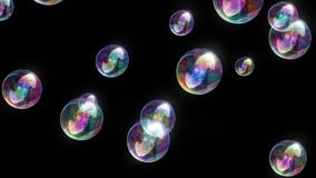 Lazo video @60fps del fondo de la diversión colorida de las burbujas de jabón 4k ilustración del vector