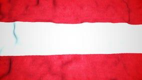 Lazo video inconsútil de la bandera austríaca almacen de metraje de vídeo