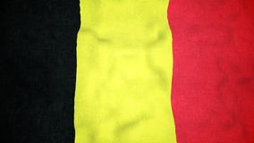 Lazo video inconsútil de la bandera belga metrajes