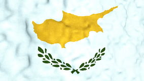 Lazo video inconsútil de la bandera chipriota almacen de video
