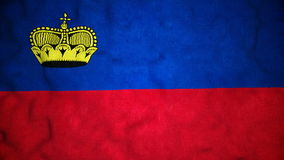 Lazo video inconsútil de la bandera de Liechtensteinian almacen de metraje de vídeo