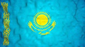 Lazo video inconsútil de la bandera del Kazakh metrajes