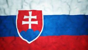 Lazo video inconsútil de la bandera eslovaca almacen de metraje de vídeo