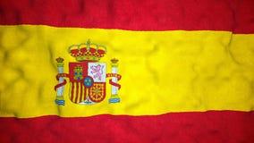 Lazo video inconsútil de la bandera española almacen de metraje de vídeo