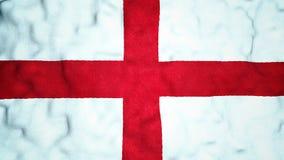 Lazo video inconsútil de la bandera inglesa almacen de video