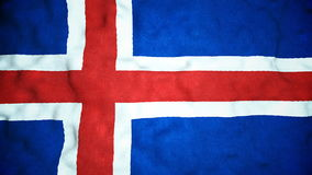 Lazo video inconsútil de la bandera islandesa almacen de metraje de vídeo