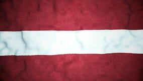 Lazo video inconsútil de la bandera letona almacen de metraje de vídeo