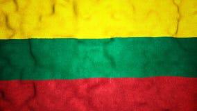 Lazo video inconsútil de la bandera lituana metrajes