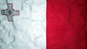 Lazo video inconsútil de la bandera maltesa metrajes