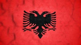 Lazo video inconsútil de la bandera albanesa metrajes