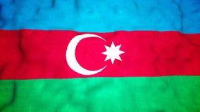 Lazo video inconsútil de la bandera de Azerbaijan almacen de metraje de vídeo