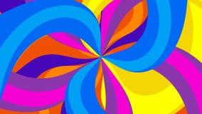 Lazo video psicodélico colorido @60fps del fondo de //del caramelo psico