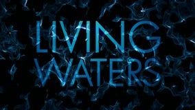 Lazo vivo del extracto del agua del título de las aguas del fractal ilustración del vector
