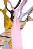 Lazos coloreados del cuello imagen de archivo libre de regalías