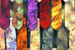 Lazos coloridos de los hombres Imagenes de archivo