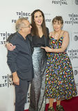 Lazos de familia en TFF: Laurie Simmons y Lena Dunham Imagen de archivo libre de regalías