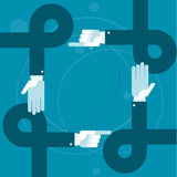 Lazos de las manos y fingeres el señalar - burocracia Imagen de archivo libre de regalías