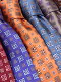 Lazos de seda del cuello Imágenes de archivo libres de regalías