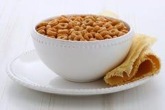 Lazos del cereal del trigo integral Foto de archivo libre de regalías