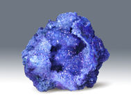 Lazurite - камень ornamental geode искры стоковые изображения rf