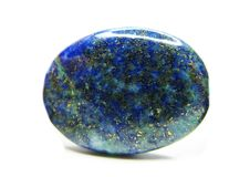 Lazurite geologisk kristall Arkivfoto