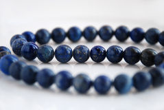 Lazurite necklace Stock Image