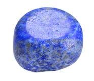 Lazurite - pedra do lápis-lazúli isolada no fundo branco Foto de Stock