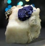 Lazurite raro con pirita en espécimen de la matriz Foto de archivo libre de regalías