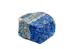 Lazurite vaggar på isolerad mineral royaltyfri foto