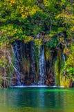 Lazurowa woda Plitvice jeziora Obraz Stock