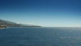 Lazurowy błękitny morze przy Monaco, Cote D'Azur Francja zdjęcie wideo