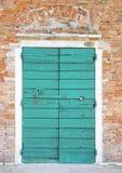 Lazurowy drzwi obrazy royalty free