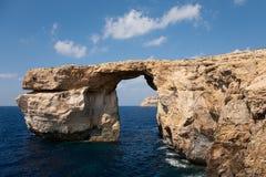 lazurowy gozo wyspy okno zdjęcia royalty free
