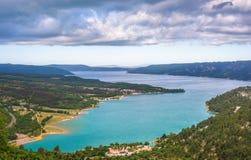 Lazurowy Sainte Croix jezioro Obraz Stock