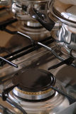 Lazy. A kitchen gas burner, turned off Stock Images