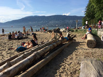 Lazy afternoon on Third Beach, Stanley Park, Vancouver, British Columbia, Canada Stock Images