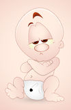 Lazy Baby Child. Creative Conceptual Art Design of Lazy Baby Child Vector Illustration Stock Images