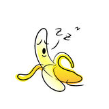 Lazy banana Royalty Free Stock Photography