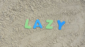 Lazy on the beach Stock Image